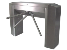 Fingerprint-Optional-304-Stainless-Steel-Bridge-Type-Tripod-Turnstile